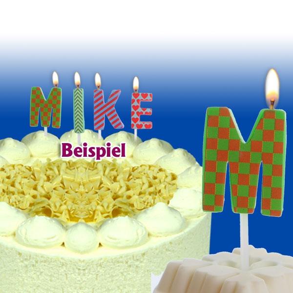 Mini Kerze Buchstabe M für Namen & persönliche Sprüche, 2,5cm, 1 Stück