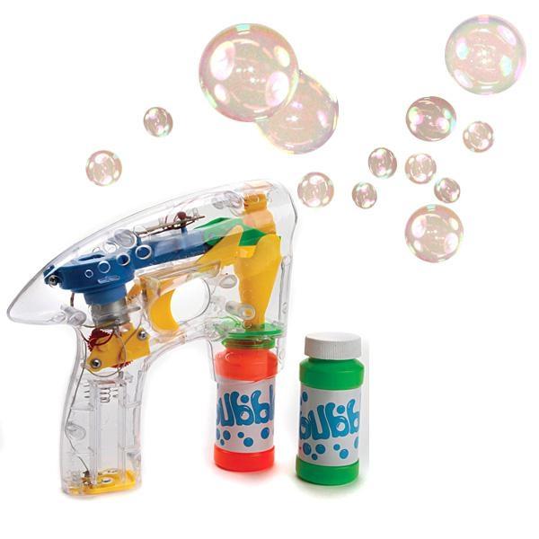 Seifenblasen-Pistole, leuchtend, inkl. 2 Flaschen