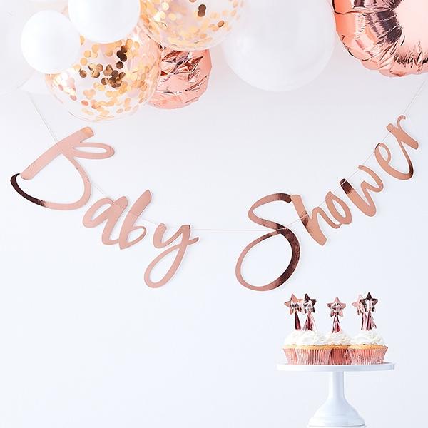 """Babyparty Buchstabenkette """"Baby Shower"""", 1,5m"""