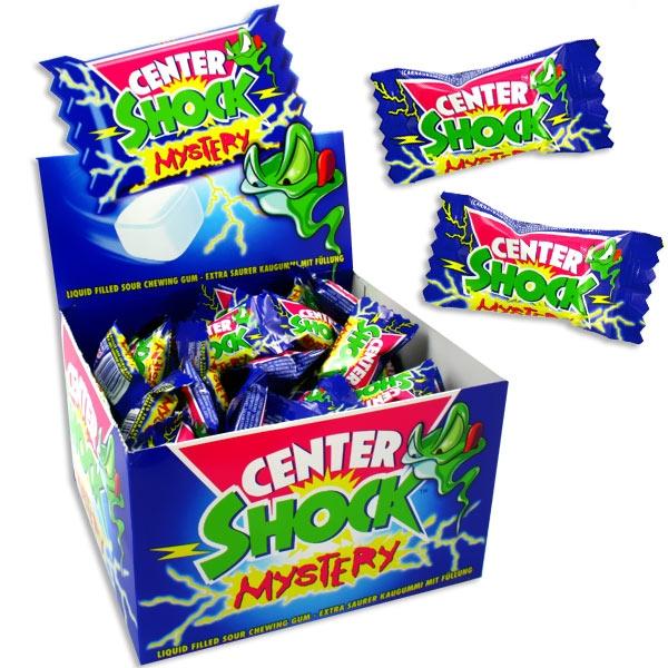 Großpackung Center Shock Mystery Mix 100 Stk., super saurer Kaugummi mit flüssigem Kern, 400g