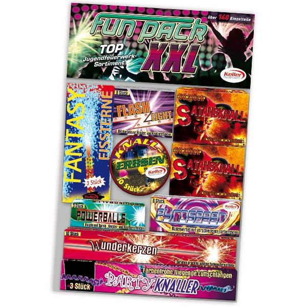 """Fun Pack XXL"" Feuerwerkssortiment, 9-fach sortiert"