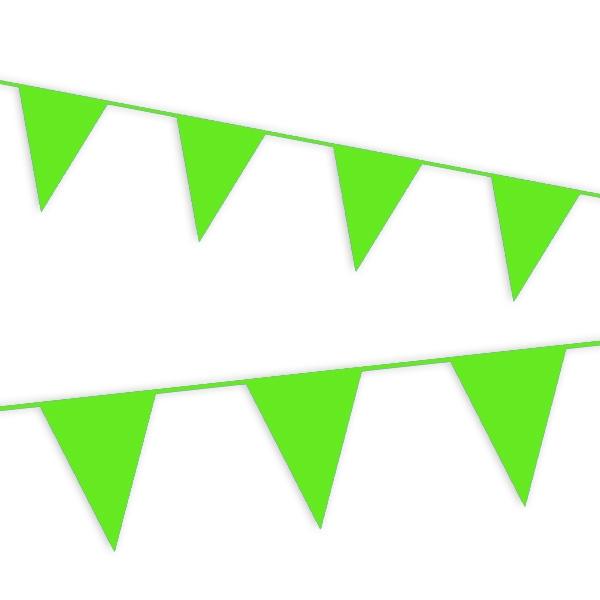 Wimpelkette in Hellgrün für drinnen und draußen aus Folie, 10m