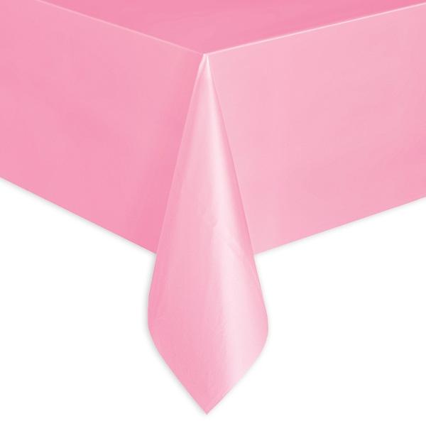 Tischdecke in Rosa einfarbig, abwischbare Folie, ca. 137x274cm
