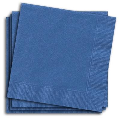 Servietten blau, 20 Stück einfarbige Papierservietten, 2-lagig, 33 cm