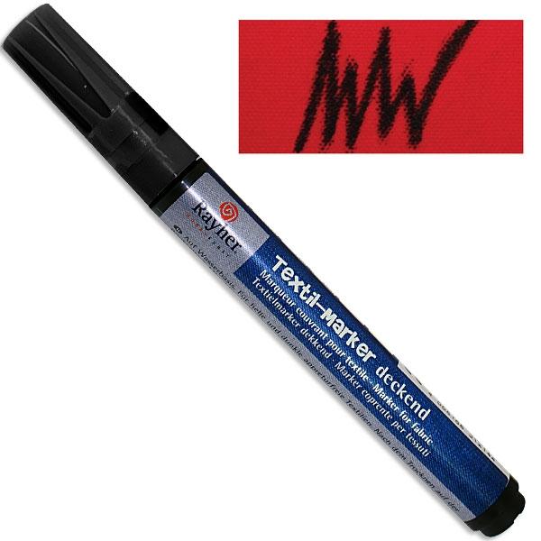 Textil-Marker deckend, schwarz, Rundspitze 2-4 mm, mit Ventil