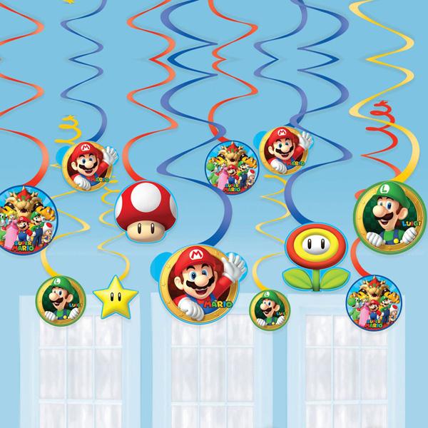 """12 Deko-Spiralen """"Super Mario"""", ca. 61cm"""