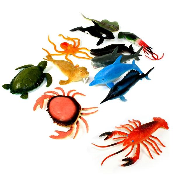 Meerestier aus Gummi 8-15cm, 1 Stk., tolle Überraschung für alle Fans der Unterwasserwelt