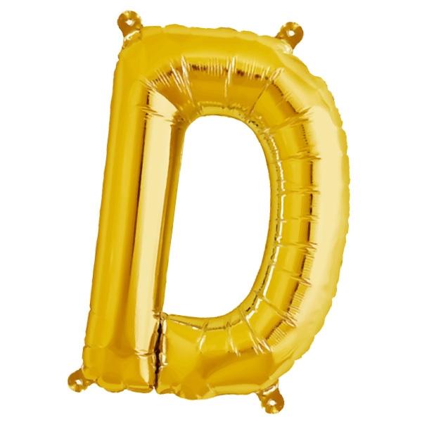 Folienballon Buchstabe D für Vornamen und Losungen, 41cm