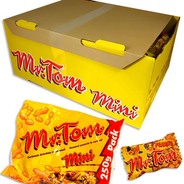 Großpackung Mr. Tom, 16x 200g, süßer Erdnuss-Riegel