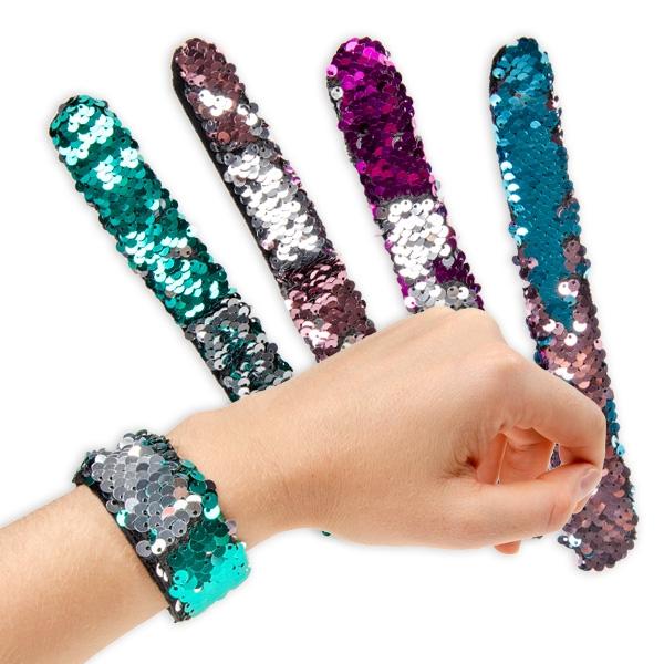 Pailletten Schnapparmband, verschiedene Farben, 1 Stk.