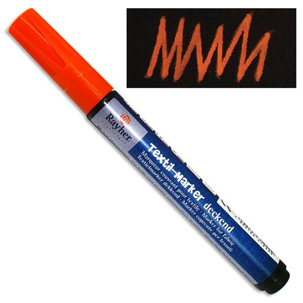 Textil-Marker deckend, orange, Rundspitze 2-4 mm, mit Ventil