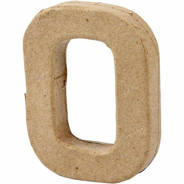Zahl 0, handgearbeitet aus Pappe, zum Basteln, Bemalen, Verzieren