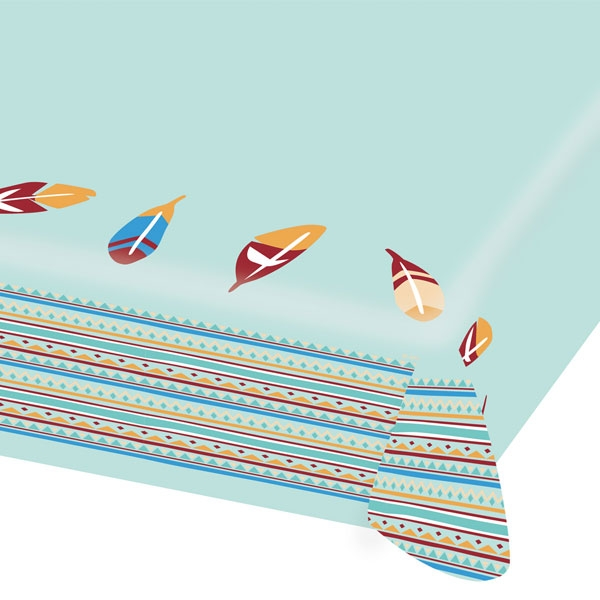 Indianer Party Tischdecke, Papier, 1,15m x 1,75m, Wilder Westen Party