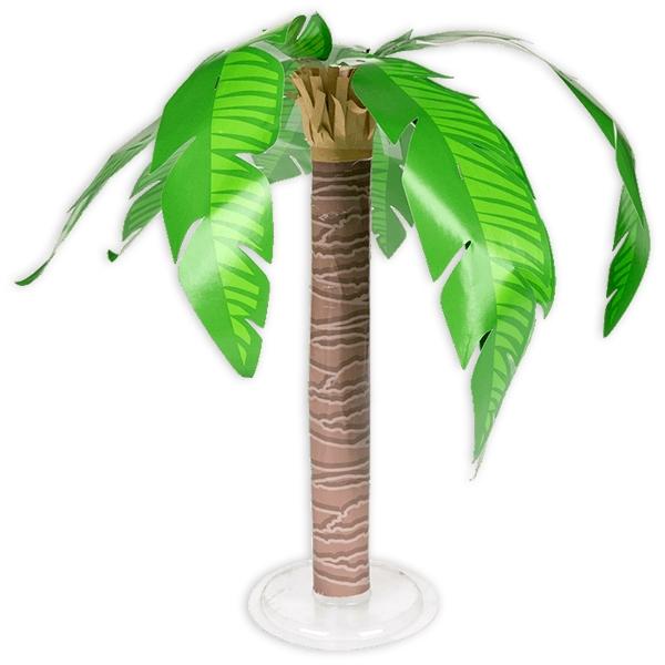 Palme - tropische Deko, 32cm hoch, aus Pappe/Papier für Südseefeeling