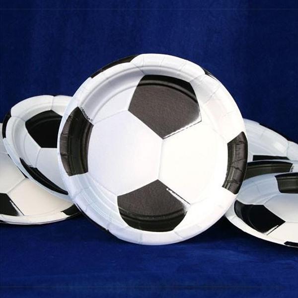 Fußball Kuchenteller 8er Pack, 18cm