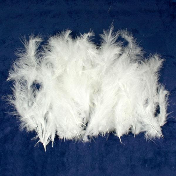 Weiße Flausch-Federn, weiche Truthahnfedern zum Basteln, 10g