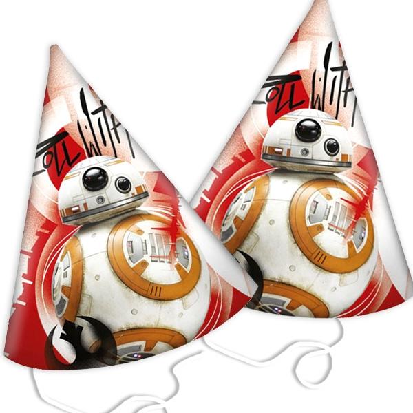 Partyhütchen Star Wars Episode 8, 6er Pck