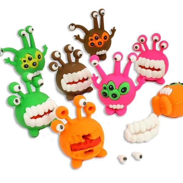 1 Radiergummi Monster, 3cm x 4,5cm, Alien Puzzle-Radierer