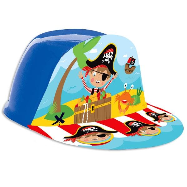 Little Pirate Piraten Cap 16×18,5cm, 1 Piratenhut aus Kunststoff, stabil