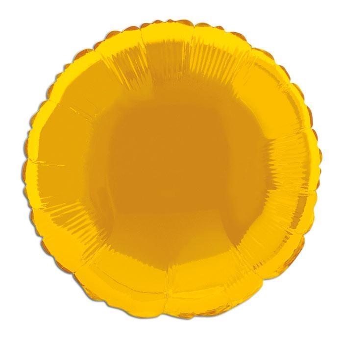Folienballon golden einfarbig 35 cm, z.B. goldene Ballondeko zum 50sten
