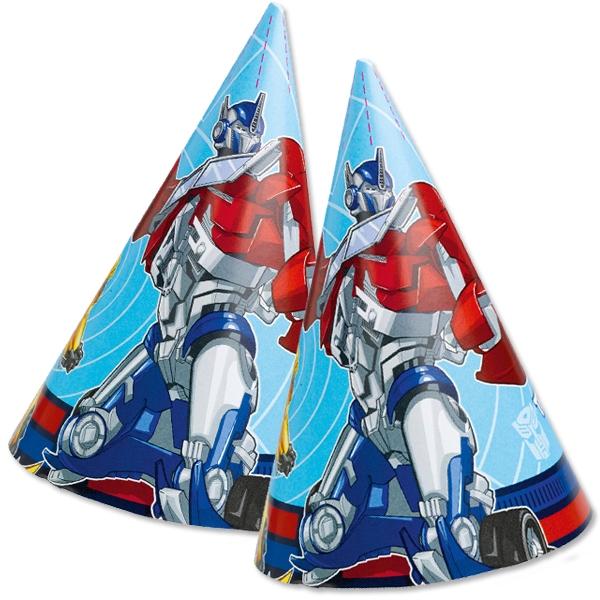 Transformers Partyhüte im 8er Pack, coole Papphütchen zur Mottoparty