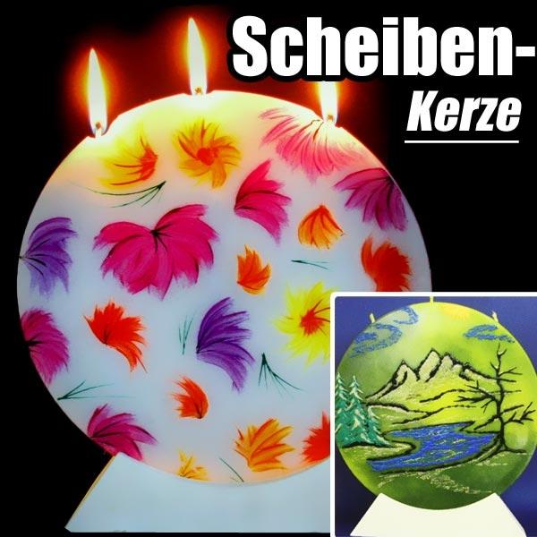 Kreativ Set Kerzenscheibe für grosse Kerze mit Giessmasse +Zubehör