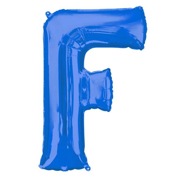 """Folienballon Buchstabe """"F"""" - Blau für persönliche Glückwünsche , 81×53cm"""