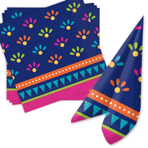 """""""Fiesta""""-Papierservietten im mexikanischen Look, 33 cm, 20 Stück"""