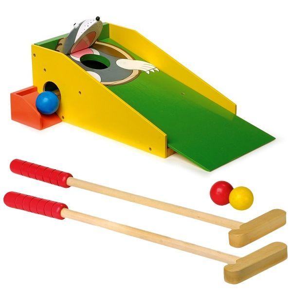 Minigolf Spiele-Set für draußen als Maulwurf inkl. 2 Schläger +4 Bälle