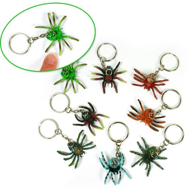 Kleine Grusel Spinne mit Schlüsselring, 1x Schlüsselanhänger, 4cm