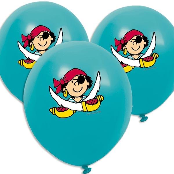 Pit Planke Luftballons im 8er Pack für Piratenparty kleiner Kinder, 30cm