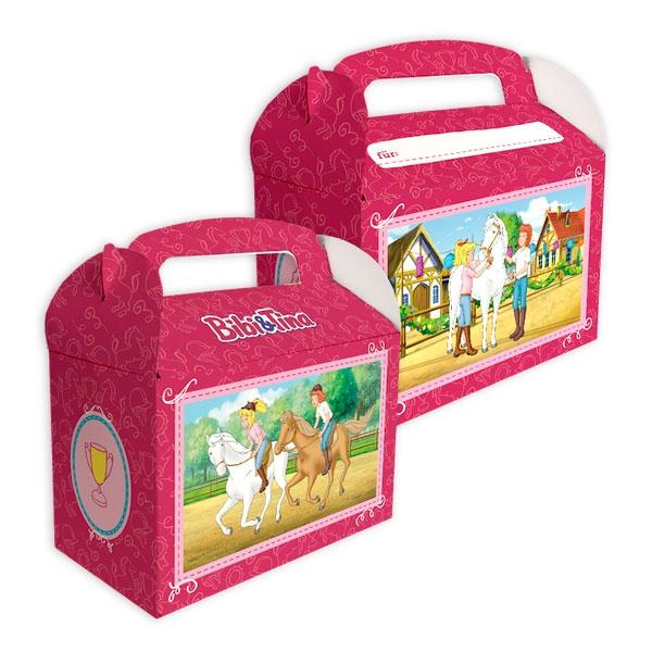 Bibi und Tina Geschenkboxen aus Pappe zum Zusammenstecken, 6 Stk