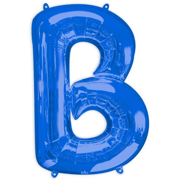 """Folienballon Buchstabe """"B"""" - Blau, 58 cm x 86 cm"""
