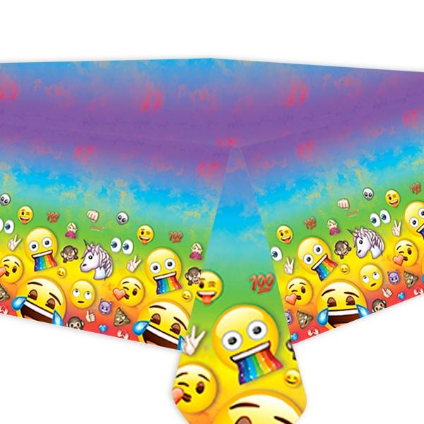 Emoji Rainbow Fun Partytischdecke, 1 Stk, Folie, 137x213cm