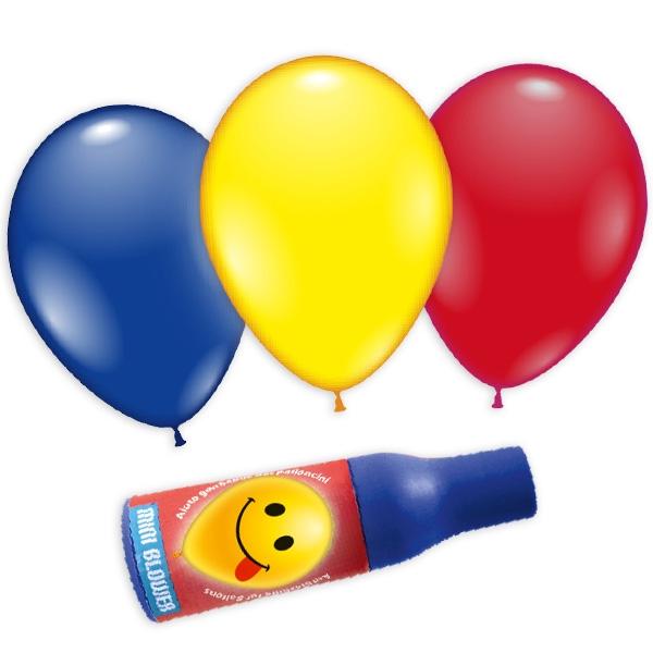 Ballons mit Aufblashilfe im 3er Set, kinderleichtes Aufpusten