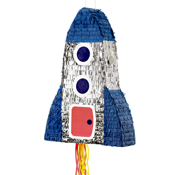 Raketen-Pinata aus Pappe, 45cm x 69cm
