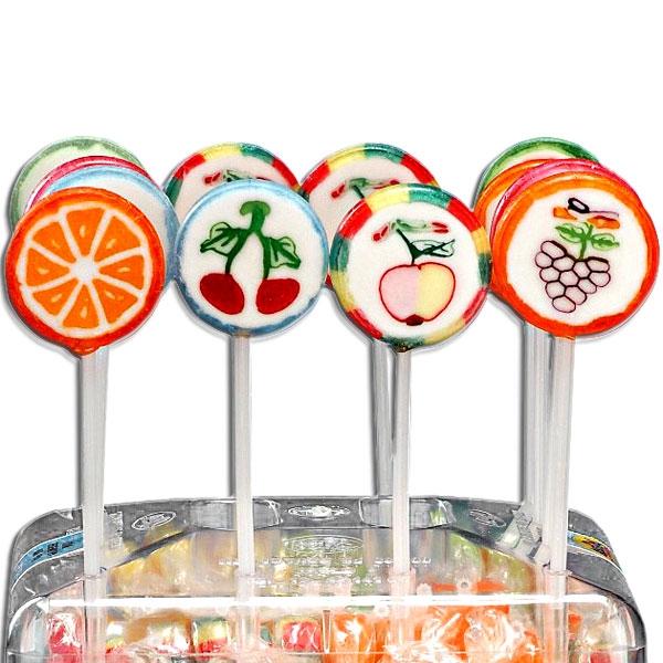Rocks Lutscher, aufwendiges Frucht-Motiv, fruchtiges Geschmackserlebnis, 10 g