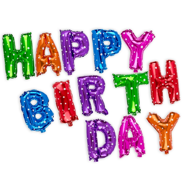 "Folienballons ""Happy Birthday"", 40cm hoch"
