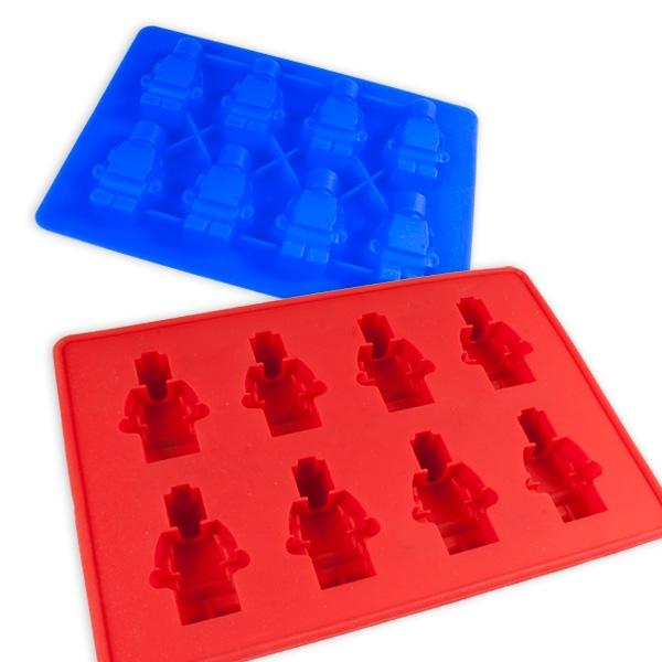 Silikon Backform für  8 Lego Figuren, 1 Stk