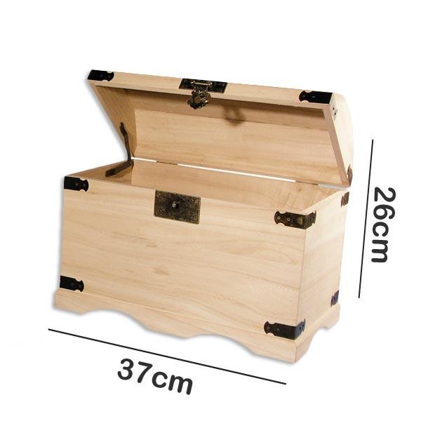 Massive Holztruhe mit Metallbeschlägen, zum Verzieren oder so Verschenken, 37x21x26cm