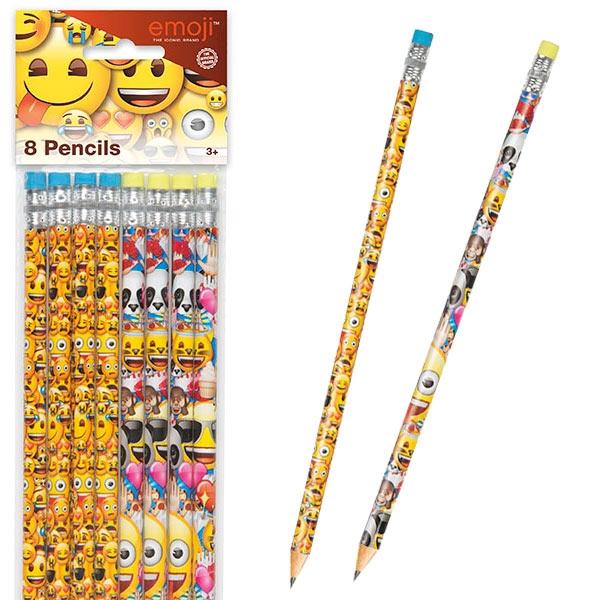 Emoji Rainbow Fun Bleistifte, 8 Stk, mit Radierer