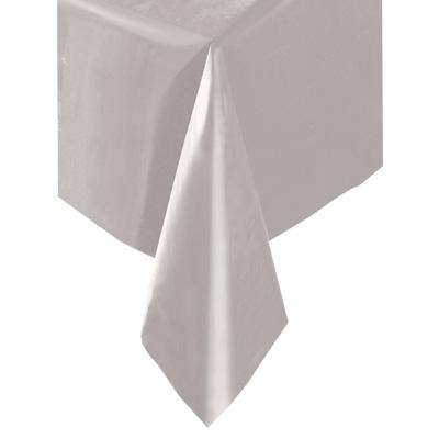 Tischdecke silbern Folie 137×274cm, universell einsetzbare Tischdeko