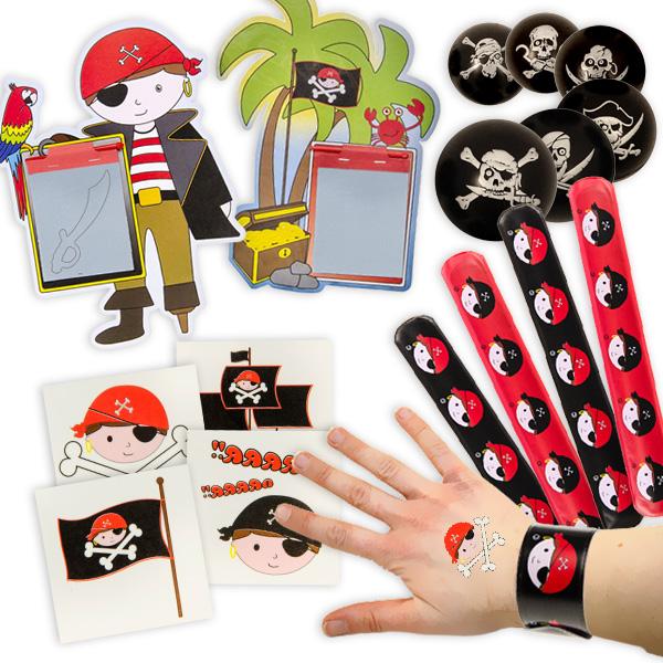 Piraten Mitgebsel im Set, 32-teilig für 8 Kids