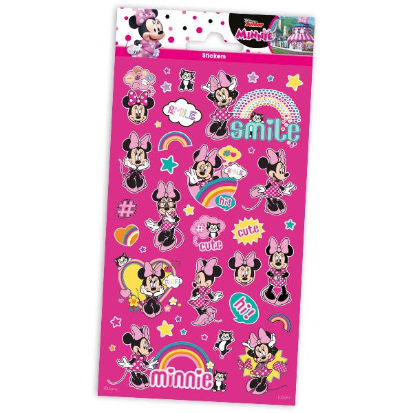 """Glitzerstickerbogen """"Minnie Maus"""" mit 29 Stickern"""