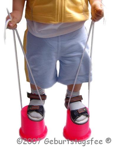 Topfstelzen für Kleinkinder aus Kunststoff, 1 Paar für Stelzenlauf