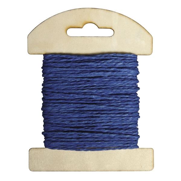 Papier Kordel 10m, Farbe: Royalblau, als Deko-Zubehör und für Befestigung