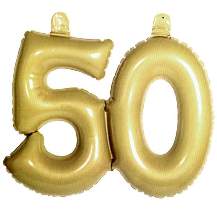 goldene Zahl 50, Infletter 50. Geburtstag/Goldhochzeit