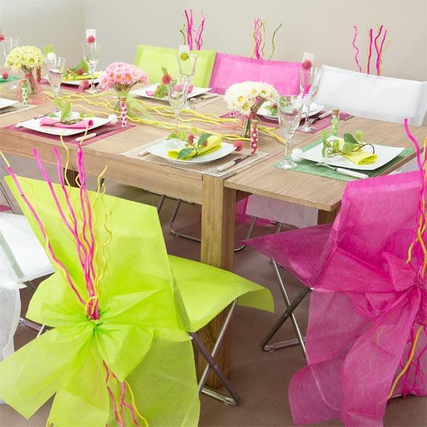 Stuhlhussen in Rosa, aus Vlies, 10 Hussen für feierliche Streudeko