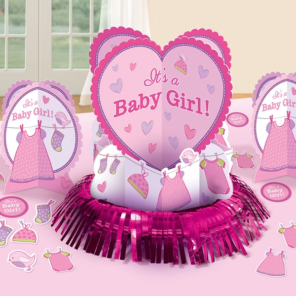 Its a Baby Girl - Tischdeko-Set, 3 Teile plus Konfetti, Baby Shower-Party