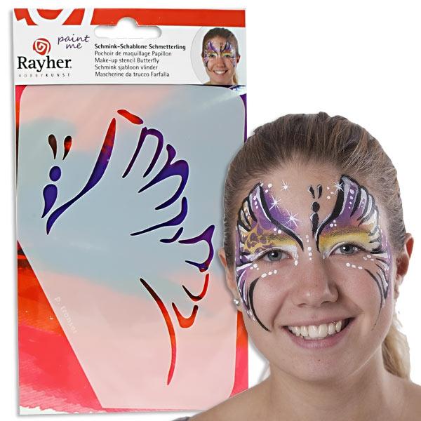 Paint Me - Schablone Schmetterling, Profischminken leicht gemacht, immer wiederverwendbar
